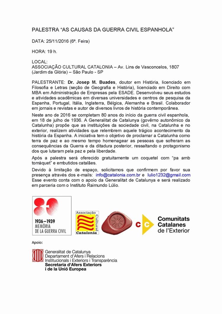Palestra Causas da Guerra Civil Espanhola